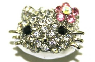 Bonjour Kitty Beads - Suitable For Pave Crystal Beads Bracelet- Hole Size 1.5mm